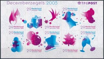 2005 Decemberi bélyegek öntapadós kisív Mi 2348-2357