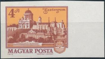 1973 Tájak-városok (II.) vágott ívszéli bélyeg (3.000)