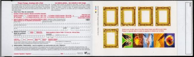 Üdvözlő öntapadós bélyegfüzet Greetings stamps stamp-booklet