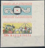 1959 FIP (II.) vágott ívsarki szelvényes bélyeg (3.500)