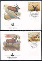WWF: Jávorantilop sor 4 FDC-n WWF Elk set 4 FDC