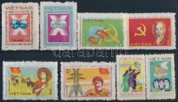 8 stamps, 8 klf bélyeg, közte 4 klf sor