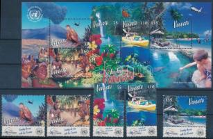 Ökoturizmus ívszéli sor + blokk Ecotourism margin set + block