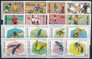 Insects set + Football set ;Vietnam;1982 Rovarok sor  + Labdarúgás sor