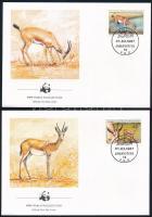 WWF: Gazella sor 4 db FDC-n WWF Gazelle set 4 FDC
