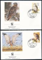 WWF Bird of prey set 4 FDC WWF; Ragadozómadarak sor 4 FDC-n
