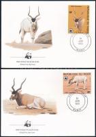 WWF: Antelope set on 4 FDC, WWF: Antilop sor 4 FDC-n
