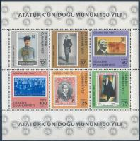 Atatürk születésének 100. évfordulója blokk Atatürk's birth centenary block