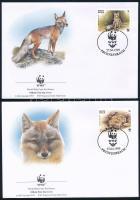 WWF: Homoki róka sor 4 db FDC-n WWF Sand fox set 4 FDC