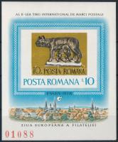 Nemzetközi bélyegvásár blokk International Stamp Fair block