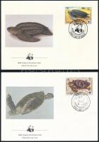 1983 WWF: Teknősök sor 4 db FDC-n Mi 541 A-544 A