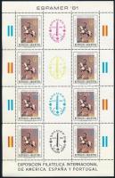 Nemzetközi bélyegkiállítás blokk + kisív International Stamp Exhibition block + minisheet