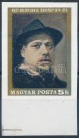 1969 Nagy Balogh János vágott ívszéli bélyeg