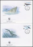 WWF Whale set on 4 FDC WWF: Bálnák sor 4 db FDC-n