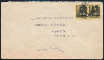 Inflation cover, Domestic cover 1946 (5. díjszabás) Távolsági levél Kisegítő 2 x 60P/18f bérmentesítéssel
