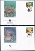 WWF Sea animals set on 4 FDC, WWF: Tengeri állatvilág sor 4 db FDC-n