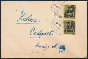 Inflation cover 1946 (5. díjszabás) Távolsági levél Kisegítő 2 x 60P/18f bérmentesítéssel