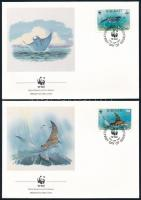 WWF: Tengeri állatok sor 4 db FDC-n WWF Sea animals set 4 FDC
