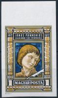 1972 Janus Pannonius vágott ívszéli bélyeg