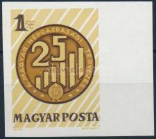 1972 25 éves a népgazdasági tervezés vágott ívszéli bélyeg