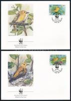 WWF Birds set on 4 FDC WWF: Aranyos lombjáró sor 4 db FDC-n