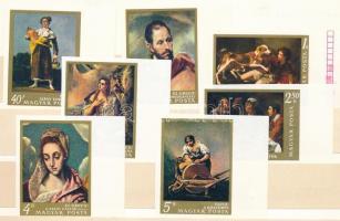 1968 Festmények vágott ívsarki sor