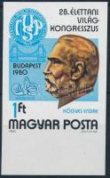 1980 Élettani Világkongresszus vágott ívszéli bélyeg
