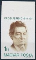 1980 Erdei Ferenc vágott ívszéli bélyeg