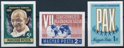 1969 Évfordulók - események (VII.) 3 klf vágott érték (4.700)