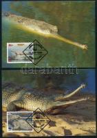 1990 WWF Gangeszi gaviál sor 4 CM-en Mi 323-326