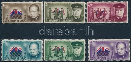 1966 Winston Spencer Churchill sor Mi 201-206 A