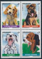 Kiskutyák négyestömb Dogs block of 4