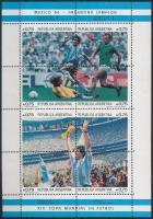 Football World Cup, Mexico mini sheet set Labdarúgó VB, Mexikó kisívsor