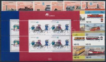 1986-1995 Vonat motívum 14 klf bélyeg + 2 klf blokk 1986-1995 Train 14 stamps + 2 blocks