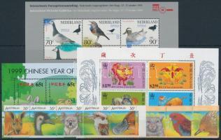 1986-2000 Állat motívum 2 klf 5-ös csík + 3 klf blokk 1986-2000 Animals 2 diff stripes of 5 + 3 diff blocks