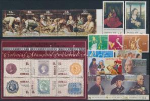 1978-1990 13 klf bélyeg + 5-ös csík + blokk 1978-1990 13 stamps + stripe of 5 + block