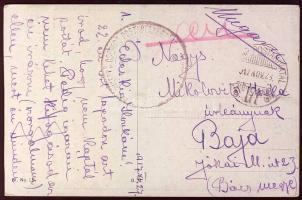 1917 Képeslap HADTÁP POSTAHIVATAL 171