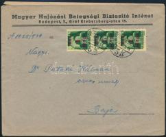 Inflation cover, Domestic business cover (2. díjszabás) Távolsági céges levél Kisegítő 3 x 1P/1P bérmentesítéssel