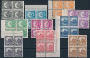 1926 Pengő-fillér I. A sor négyestömbökben (100.000) (ráncok, apró hibák / creases)