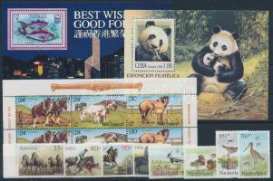 1984-1999 Állat motívum 8 klf bélyeg + 3 klf blokk 1984-1999 Animals 8 stamps + 3 block