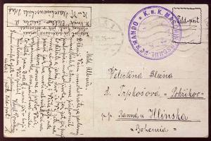 1915 Képeslap K.u.k. MASCHINEN-SCHULKOMMANDO+POLA 1