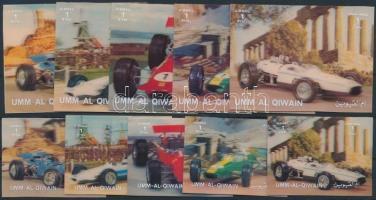 Versenyautók sor + 5 érték Race Cars set + 5 stamps