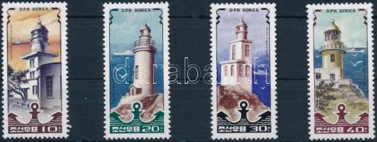 Világítótornyok sor Lighthouses set