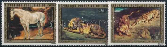 Eugene Delacroix festményei sor Eugene Delacroix paintings set