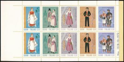 Népviselet bélyegfüzet Costumes stamp-booklet