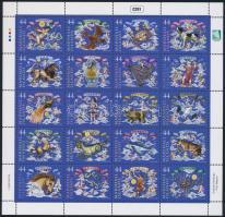 Zodiac mini sheet Csillagképek kisív