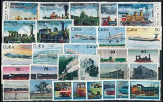 1972-1975 Közlekedés motívum 29 klf bélyeg 1972-1975 Transport 29 stamps