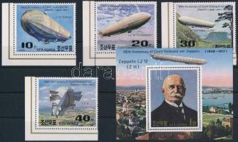 1988 Zeppelin ívsarki sor Mi 2948-2951 + blokk 237
