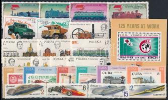 1976-1988 Közlekedés motívum 24 klf bélyeg + blokk 1976-1988 Transport 24 stamps +  block