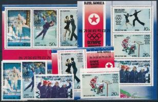 Winter Olympics set + mini sheet set + block, Téli olimpia sor + kisívsor + blokk